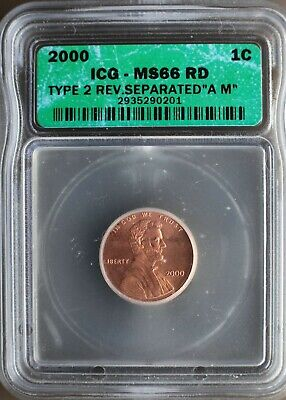 Kappys Gh7723  2000 Type 2 Reverse  Wide A M  Igc Ms 66 Red  Certified  Error