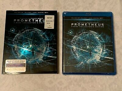 PROMETHEUS 4 Disc Collector's Edition 3D BLU-RAY+ DVD + Digital FACTORY SEALED