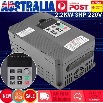 2.2KW 3HP 220V Single To 3 Phase Variable Frequency Drive Inverter VSD VFD AU
