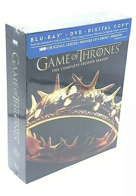 Game of Thrones: Complete 2nd Season (Blu-ray+DVD+Digital, 2013; 7-Disc Set) NEW