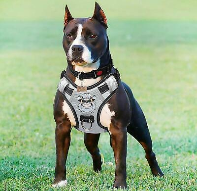 Babyltrl Silver Big Dog Harness No-Pull Oxford Material Soft Vest for Large Dogs