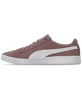 NEW PUMA Ladies' Vikky Suede Shoes Elderberry PurPle Pink Softfoam Court Low | eBay