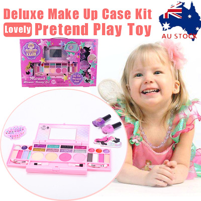 Girls Kids Makeup Set Pretend Play Beauty Cosmetic Vanity Toy Eco-friendly Gift