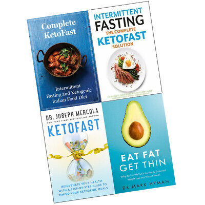 Complete KETOFAST Solution, Eat Fat Get Thin 4 Books Collection Set NEW