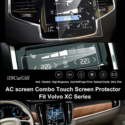 2019-2020 Volvo XC90 Tempered Glass Navigation & AC Touch Screens Protector