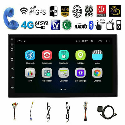 NEW Android 8.1 Bluetooth Quad Core Car Stereo Radio 7 Multimedia MP5 Player GPS