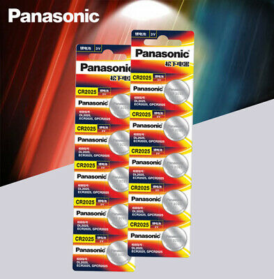 10 x Panasonic cr2025 Button Cell Batteries cr 2025 For Watch Calculator 3v cell