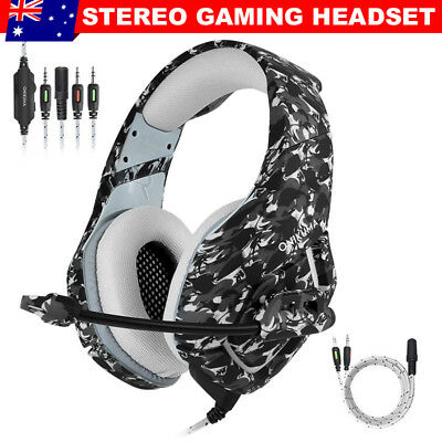 OZ ONIKUMA K1 Mic Stereo Bass Surround Gaming Headset for Laptop PS4 Xbox One