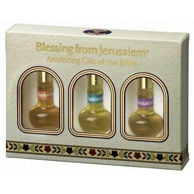 Bible Gift - Anointing Oil from Jerusalem. Anointing Oils of the Bible Trio 3 *