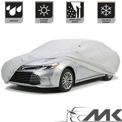 All Weather Large Family Car Rain Cover L/XL Waterproof Lined Grey ALL CARS