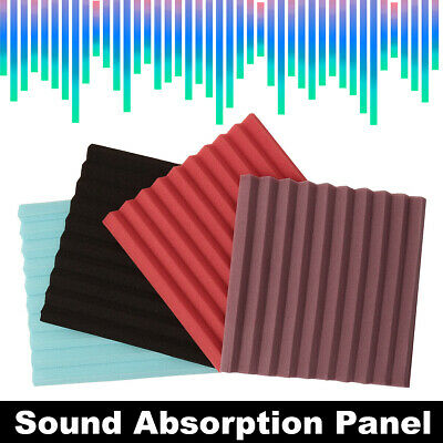 36Pcs Acoustic Wall Panels Sound Proofing Foam Pads Studio Treatments Tool