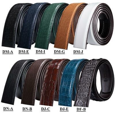 6 Styles Mens Replacement Belts Genuine Leather for Automatic Rathchet Buckles