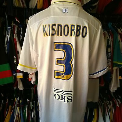 Leeds United 2011 Home Football Shirt #3 Kisnorbo Macron Jersey Size Adult 3Xl