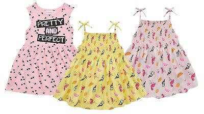 Girls Cotton Sleeveless Summer Skater Dress Kids Holiday Party Outfit Size