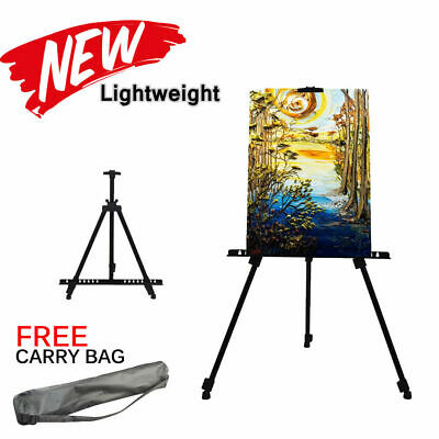 Strong Metal Folding Painting Easel Adjustable Tripod Carry Bag Stand Art