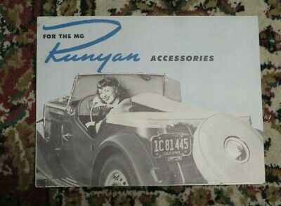 Runyan Accessories Brochure for the MG - Circa 1951