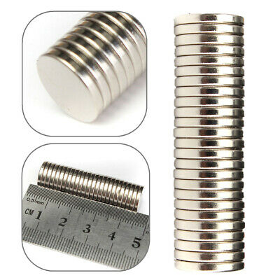 25Pcs Strong powerful round N52 12mm dia x2mm Neodymium disk magnets Strong Disc