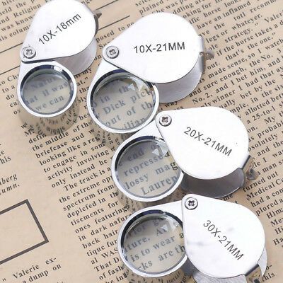 10x-30x 18/21mm Glass Magnifying Magnifier Jeweler Eye Jewelry Loupe Loop Grace