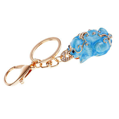 Handmade Pi Xiu Lucky Keychains to Bring Wealth Fortune Car Bag Key Rings #2