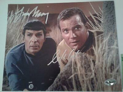 Star Trek Leonard Nimoy and William Shatner Signed Autographed 8x10 Photo w/ COA