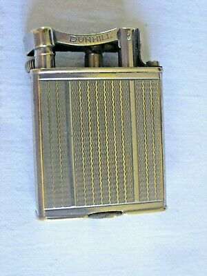 VINTAGE DUNHILL ART DECO PERIOD LIFT ARM SILVER-PLATED LIGHTER, PAT No. 390107