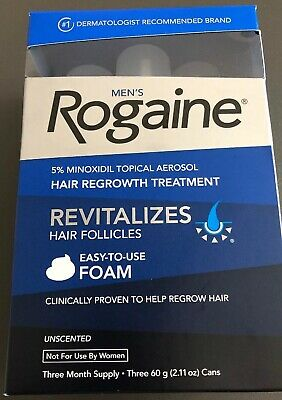 ROGAINE Men's Foam 5% Minoxidil Hair Regrowth Treatment - 2.11 oz., 3-Pack