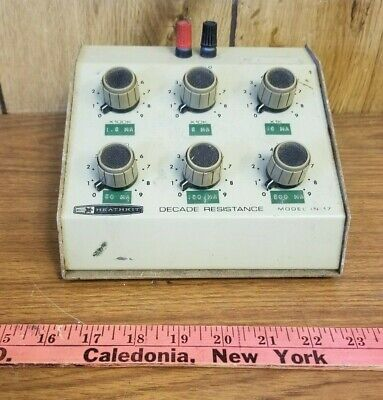 Vintage Heathkit Model IN 17 Decade Resistance Substitution Box tested