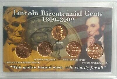 Lincoln Bicentennial Cents 1809-2009 Proof  Set