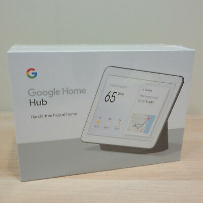 BRAND NEW SEALED Google Home Hub with Google Assistant - GA00515-US Charcoal