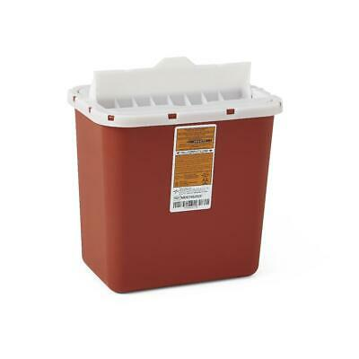 2 Gallon Medline Red Sharps Container, 3/Box