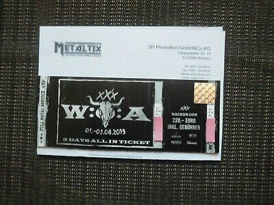 Wacken Ticket 3 Days all in  01.08-03.08.2019 Sold Out