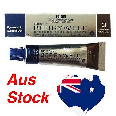 Berrywell eyelash eyebrow tint professional Natural Brown