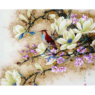 Bird Flowers Pictures Paint By Number Kit DIY Oil Painting On Cavas No Frame