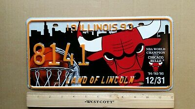 License Plate, Illinois, Special Event (cf NOTE), Chicago Bulls NBA Champs, 8141