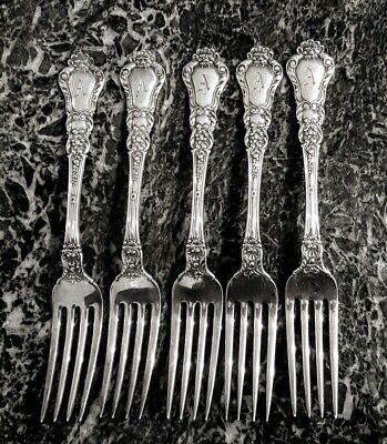 "Gorham Baronial, Old Sterling Silver Dinner Fork (S) - 7 3/4"" (""A"" Monogram)"