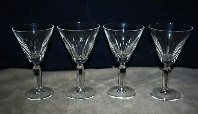 "Fine! Set Of 4 Waterford Cut Crystal ""Sheila"" - Tall Water Goblets - Stemware"