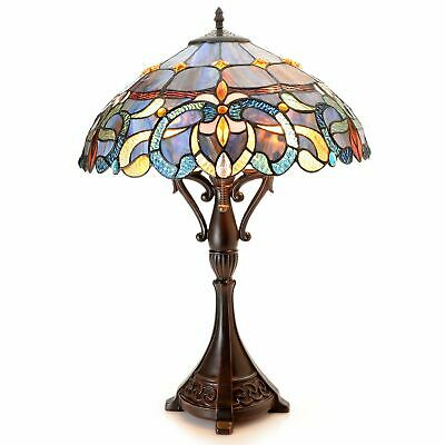 """Tiffany-Style Bristol 26"""" Victorian-Inspired Stained Glass Table Lamp #K428324"""