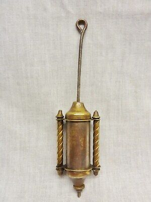 "Antique American Regulator/Shelf  WALL CLOCK PENDULUM bob 7"" faux mercury  brass"