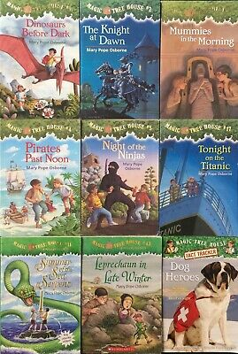 """Lot Of 9 """"Magic Tree House"""" Books By Mary Pope Osborne"""
