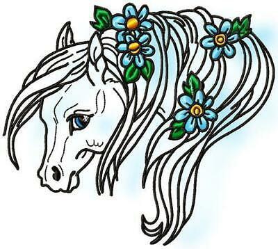 PONIES 20 MACHINE EMBROIDERY DESIGNS CD or USB