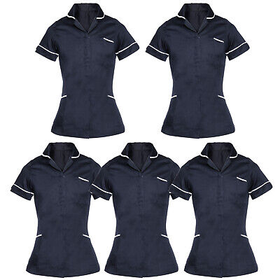 Womens Tunic Nurses Uniform Salon Vet Beauty Healthcare Medical Dental