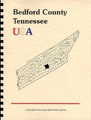 TN Bedford County Tennessee Shelbyville history/biography trivia 1886 New  RP