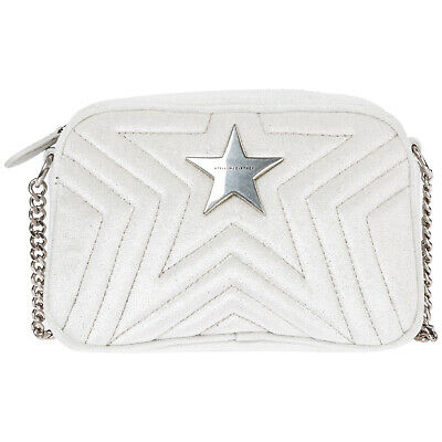 Stella Mccartney Women's Cross-Body Messenger Shoulder Bag New Mini White 88E