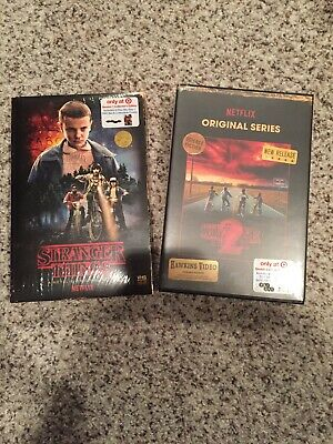 Stranger Things Season 1 & 2 Target VHS Collector's Edition Blu-ray/DVD Netflix