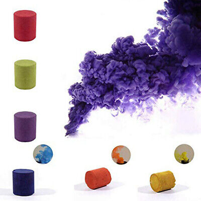 12pcs Smoke Cake Colorful Smoke Effect Show Round Toy Bomb Stage Photography Aid