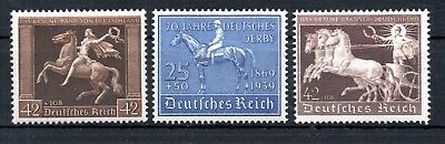Germany , Third Reich , 1938 , 1939 , 1940 , Horses , Three Scarce Stamps , Mnh