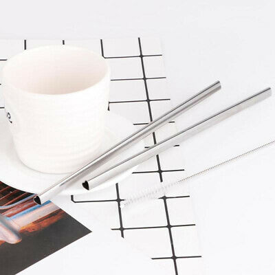 Reusable Heart Shaped Stainless Steel Metal Drinking Straws Barware Home&Kitchen