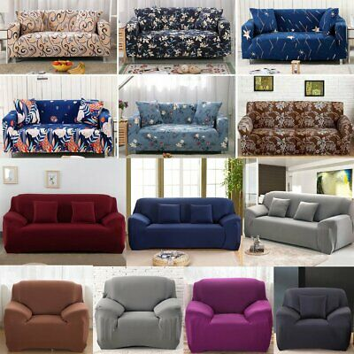 1-4 Seater Elastic Sofa Covers Slipcover Settee Protector Stretch Floral Couch&