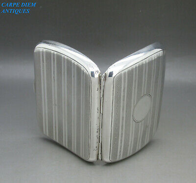 ANTIQUE NICE QUALITY SOLID STERLING SILVER CIGARETTE CASE 79g C.C, CHESTER 1920