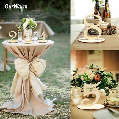 1-20 Wooden Standing Table Numbers Freestanding Table Numbers Wedding Party Deco